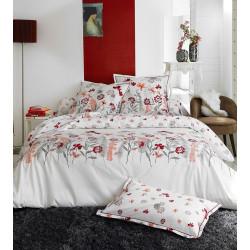 PETITE FOLIE Rouge Parure de lit Percale de coton - Tradilinge
