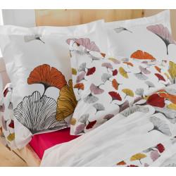 GINKGO Rose Taie d'oreiller Percale de coton - Tradilinge
