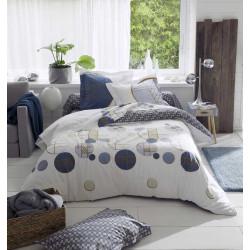 ROMEO Bleu Parure de lit Percale de coton - Tradilinge