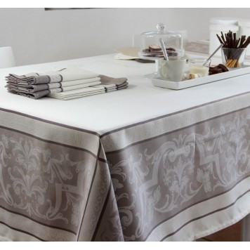 EYGALIERE Taupe Nappe Jacquard Polyester - Sud Etoffe