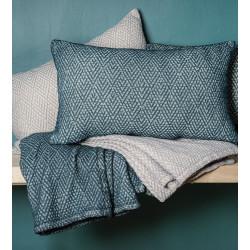 EMMA Plaid et coussin coton stonewhashed - Toison d'Or