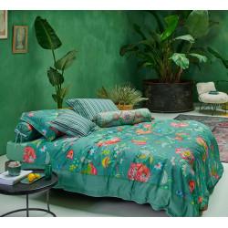 JAMBO FLOWER Green Parure de couette Percale - Pip Studio