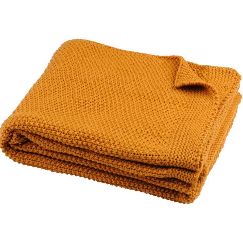 ELLIOT Plaid tricoté 100 % acrylique - Stof