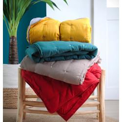 HONORINE Plaid façon Edredon 100 % polyester - Stof