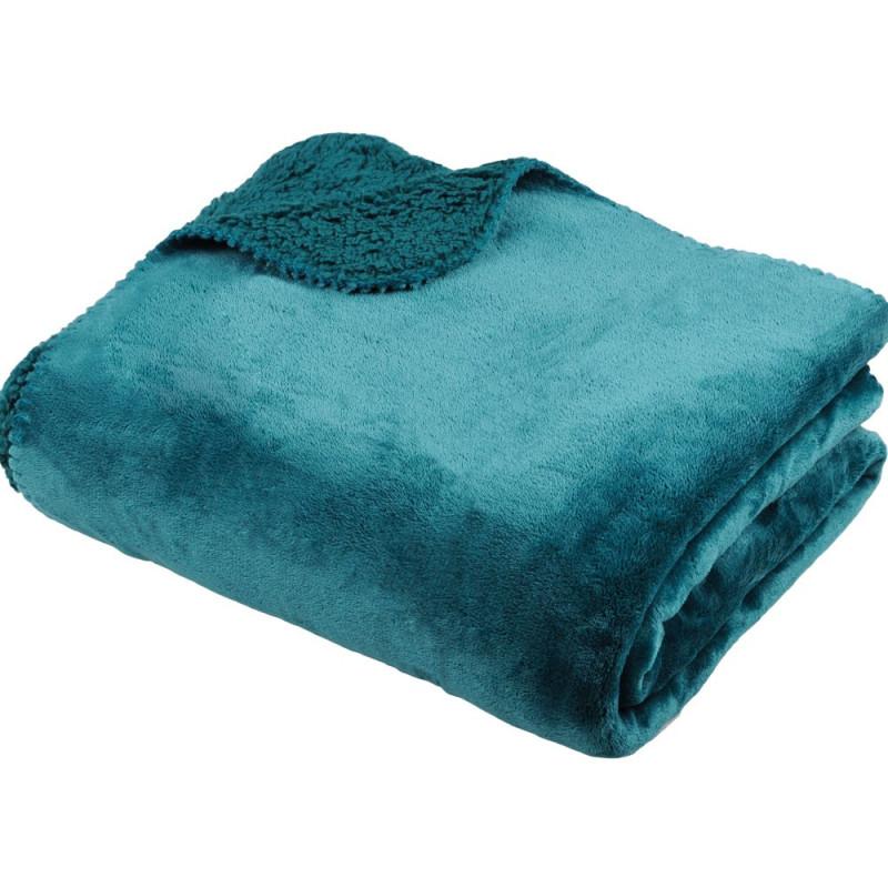 TORONTO Plaid micro-velours doublé effet fourrure 100 % polyester - Stof