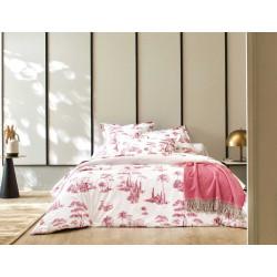PROMENADE Bois de Rose Parure de lit Percale de coton - Blanc des Vosges