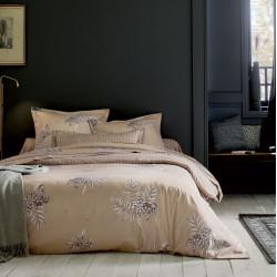 HIBOUX Galet Parure de lit Satin de coton - Blanc des Vosges