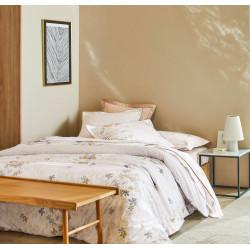 ENVOL Caramel Drap housse Percale de coton coloris Chanvre - Blanc des Vosges