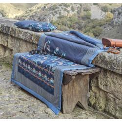 CIVITA Blue B1 Foulard et plaid de décoration - Bassetti Granfoulard