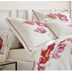 TULIPE MANIA Fuchsia Drap housse Satin de coton uni coloris Naturel - Sanderson