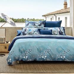 MADAMA Butterfly Blue B1 Parure de lit Satin - Bassetti Granfoulard