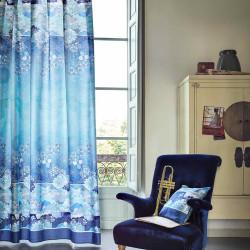 MADAMA Butterfly Blue B1 Foulard de décoration - Bassetti Granfoulard