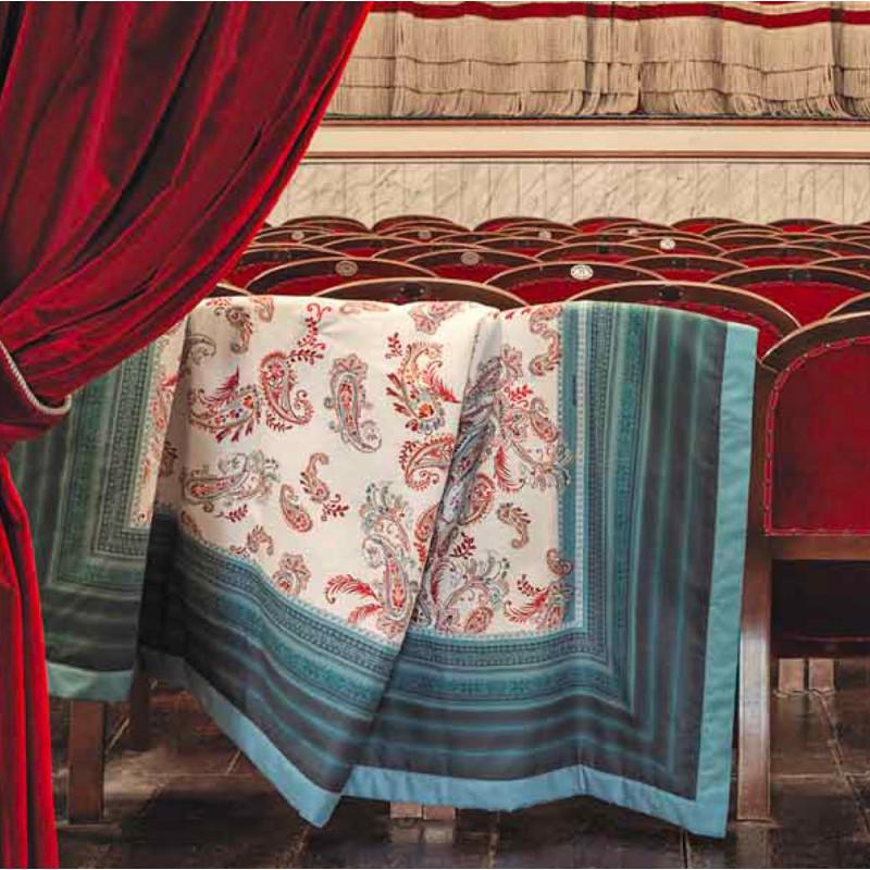 TOSCA Azzurro B1 Foulard et plaid matelassé de décoration - Bassetti Granfoulard