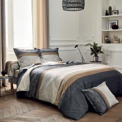 TIAGO Noir Parure de lit Satin de coton - Tradilinge