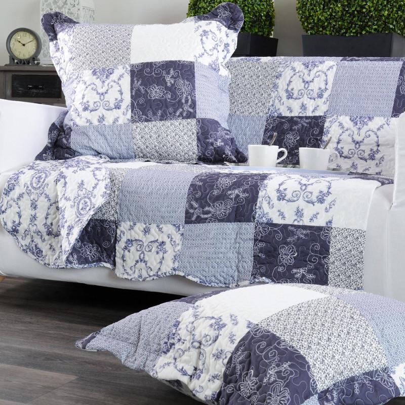 allyson couvre lit fa on boutis et taies d 39 oreillers de stof linge mat. Black Bedroom Furniture Sets. Home Design Ideas