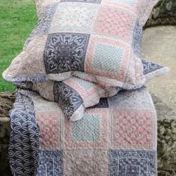 Senas couvre lit façon boutis avec taies d'oreillers réversible - Stof