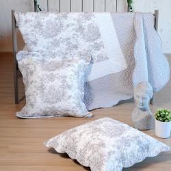 Mitra couvre lit façon boutis réversible avec taies d'oreillers - Stof
