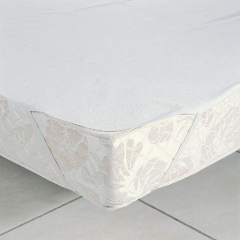 Molleton imperm able prot ge matelas plateau de fil blanc linge mat - Protege matelas impermeable 160x200 ...