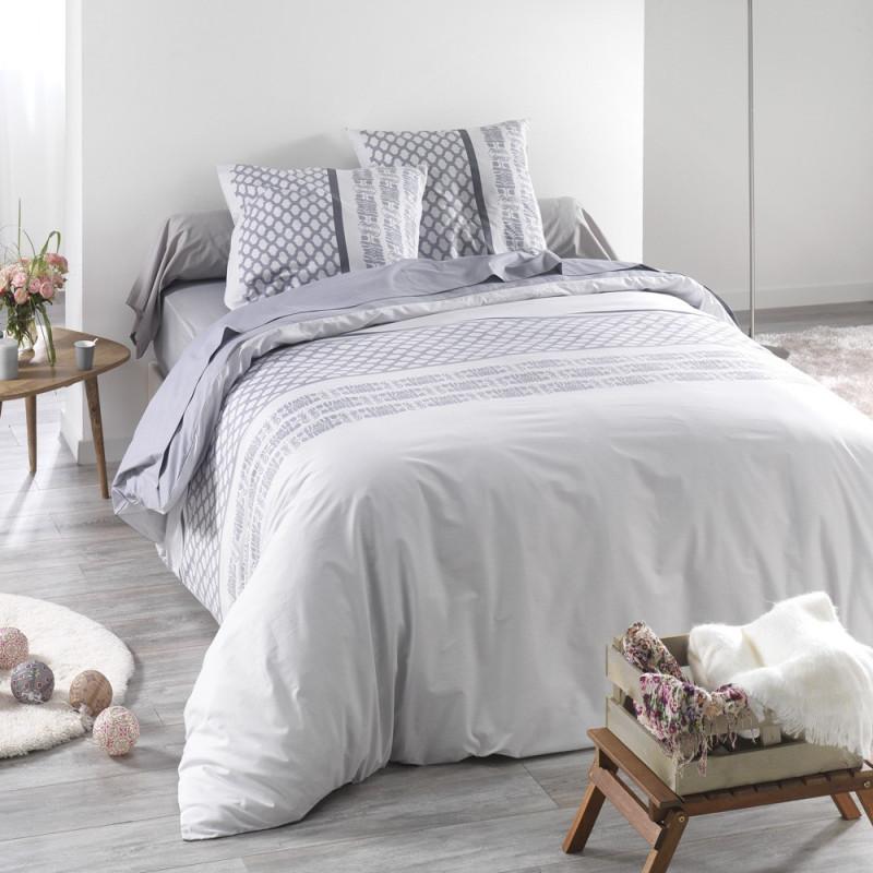 parure de drap perle de c design en coton 57 fils linge mat. Black Bedroom Furniture Sets. Home Design Ideas