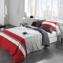 Parure de drap 4 pièces CARAVELLE Rouge literie 140 - C Design