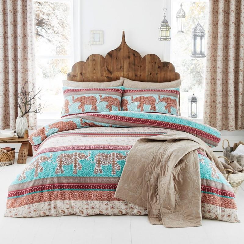 elephant parure de couette 260x240 catherine lansfield linge mat. Black Bedroom Furniture Sets. Home Design Ideas