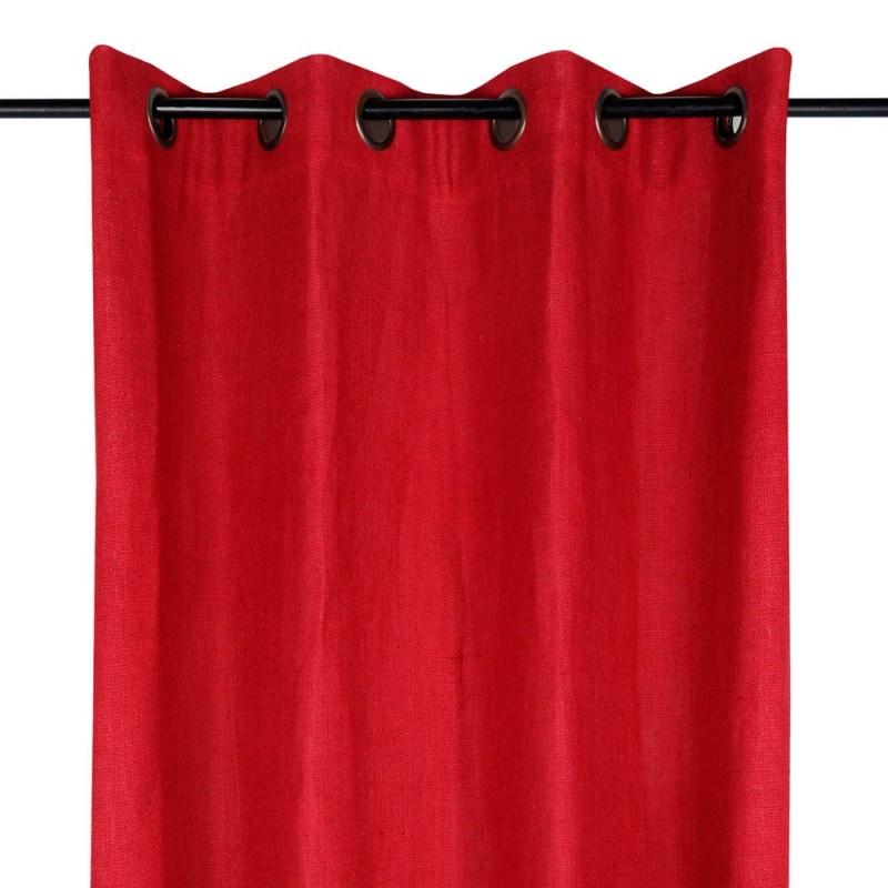 rideau jute finition oeillet de stof linge mat. Black Bedroom Furniture Sets. Home Design Ideas