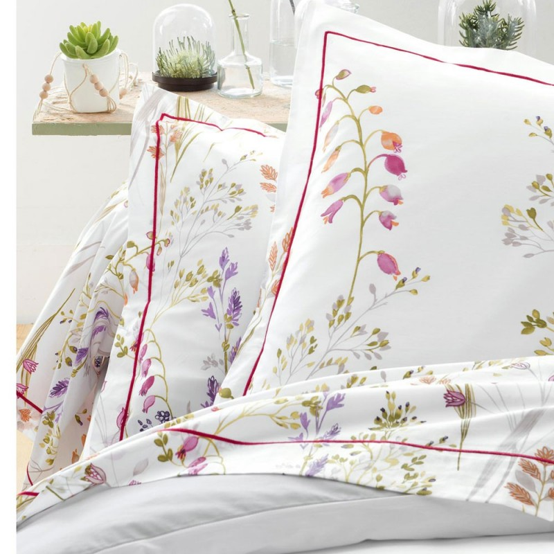 herbier parure percale imprim e de tradilinge linge mat. Black Bedroom Furniture Sets. Home Design Ideas