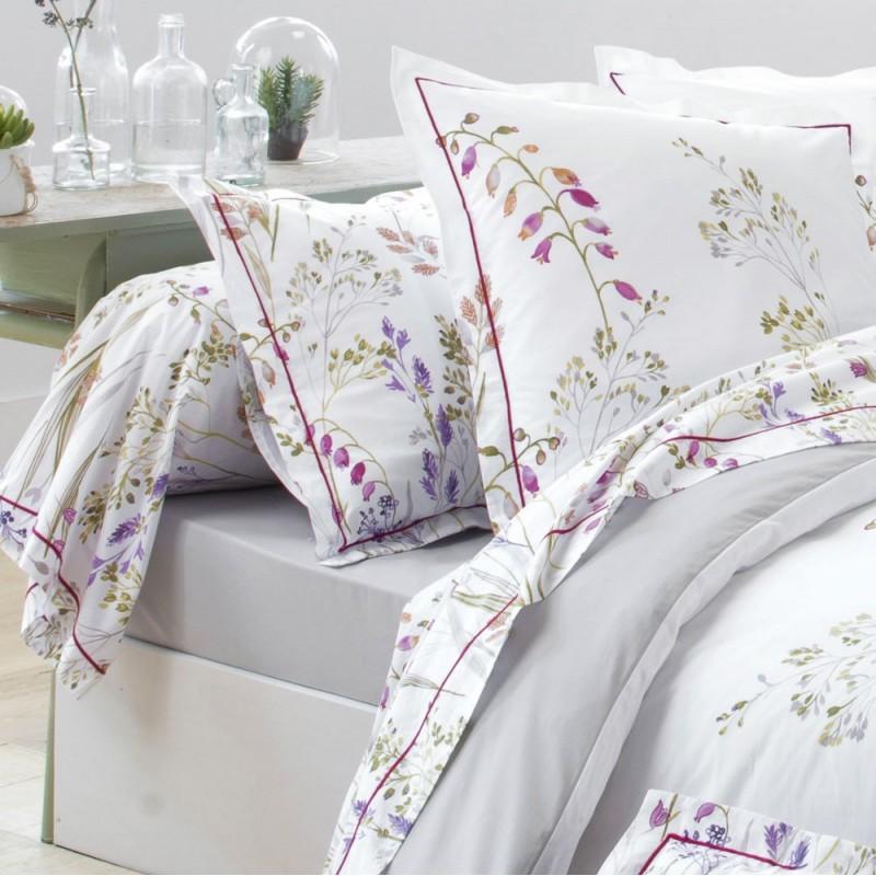 herbier housse de couette percale imprim e de tradilinge linge mat. Black Bedroom Furniture Sets. Home Design Ideas