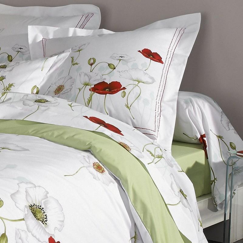 seduction housse de couette percale imprim e de tradilinge linge mat. Black Bedroom Furniture Sets. Home Design Ideas