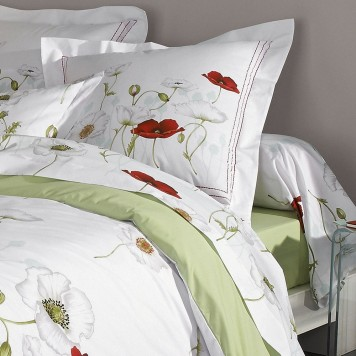 Seduction housse de couette percale imprim e de tradilinge for Drap housse en percale de coton