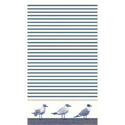 SEAGULL drap de plage 95x170 Jacquard velours de Vent du Sud