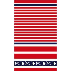 PESCADORE drap de plage 95x170 Jacquard velours de Vent du Sud