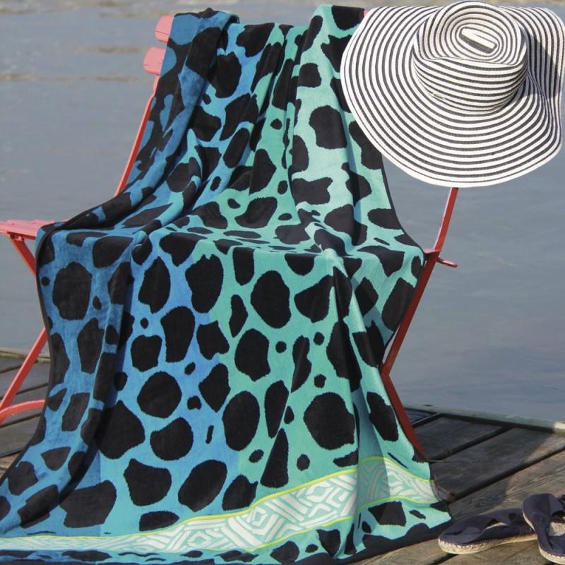 SHEEBA drap de plage 95x170 Jacquard velours de Vent du Sud ...