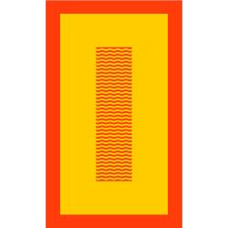 CYCLADE Corail drap de plage 95x170 Jacquard velours de Vent du Sud