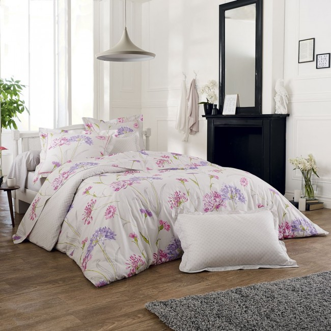 caprice housse de couette percale imprim e de tradilinge linge mat. Black Bedroom Furniture Sets. Home Design Ideas