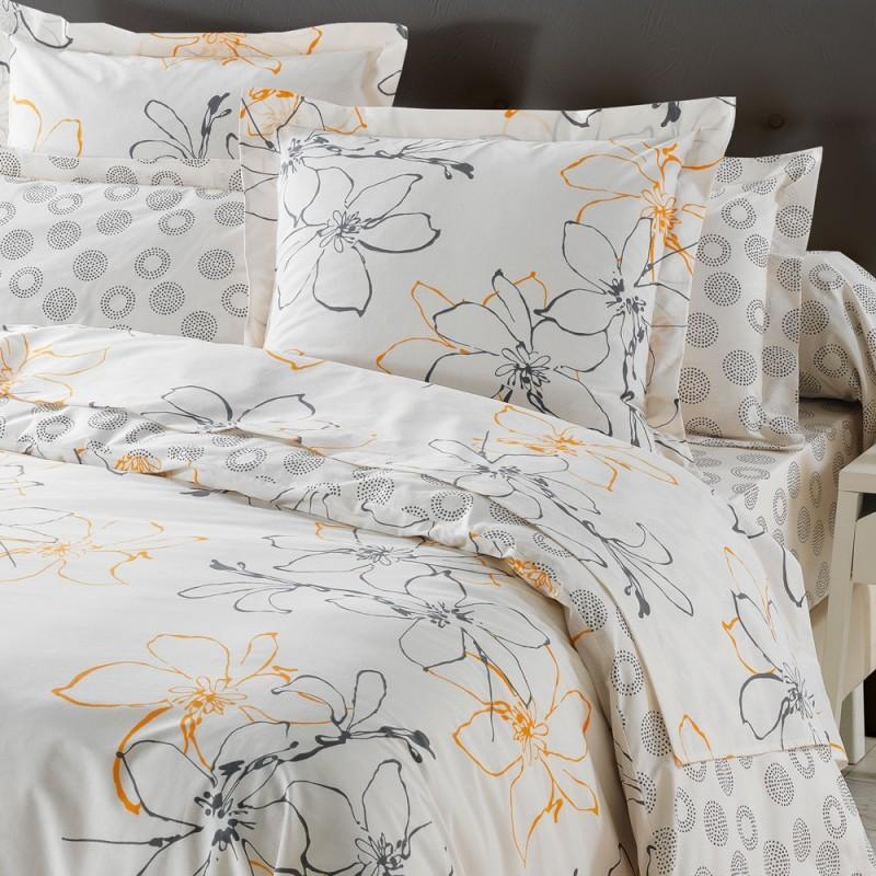esquisse drap plat imprim coton de jour de paris par texunion linge mat. Black Bedroom Furniture Sets. Home Design Ideas