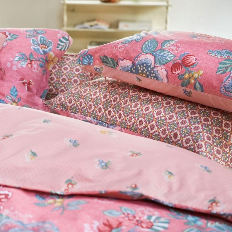 berry bird pink housse de couette pip studio