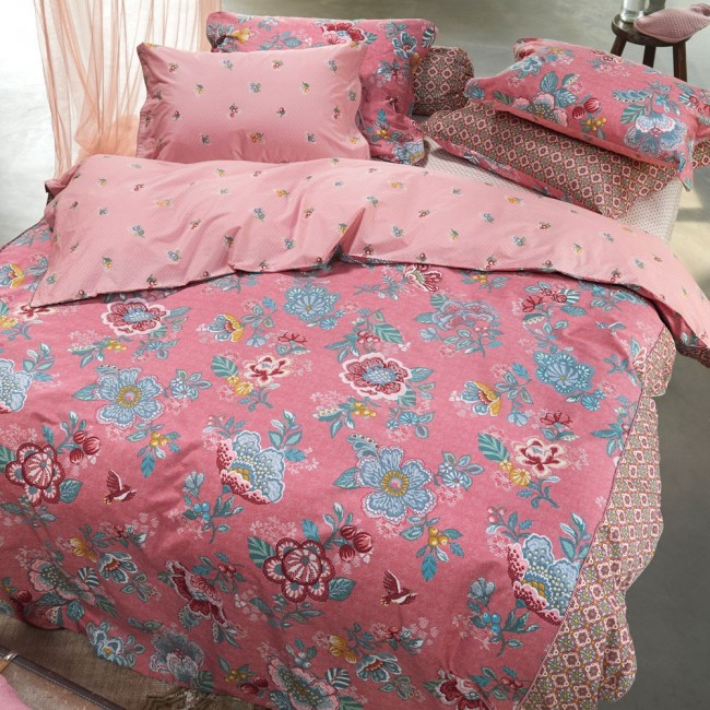 berry bird pink parure de lit imprim e de pip studio linge mat. Black Bedroom Furniture Sets. Home Design Ideas