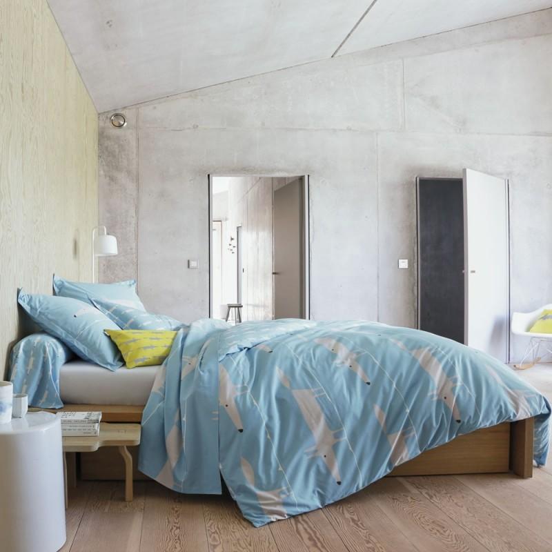 mr fox bleu taie d 39 oreiller de scion living linge mat. Black Bedroom Furniture Sets. Home Design Ideas