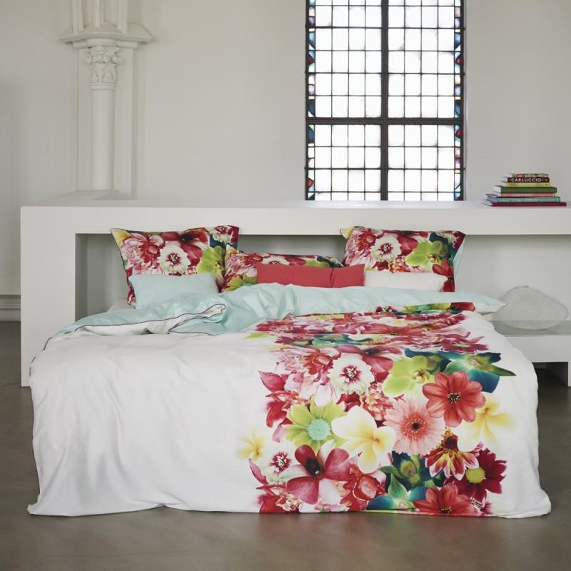 belle multi housse de couette satin 100 coton de essenza linge mat. Black Bedroom Furniture Sets. Home Design Ideas