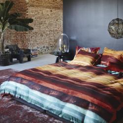 DIA ROUGE Parure de lit Satin de coton de Essenza
