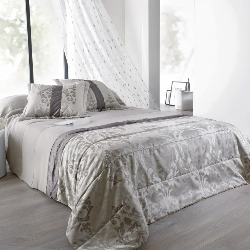 lampas jet de lit matelass taie d 39 oreillers linder linge mat. Black Bedroom Furniture Sets. Home Design Ideas