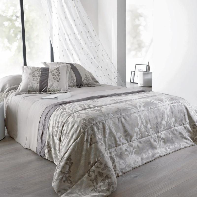 lampas jet de lit matelass taie d 39 oreillers linder. Black Bedroom Furniture Sets. Home Design Ideas
