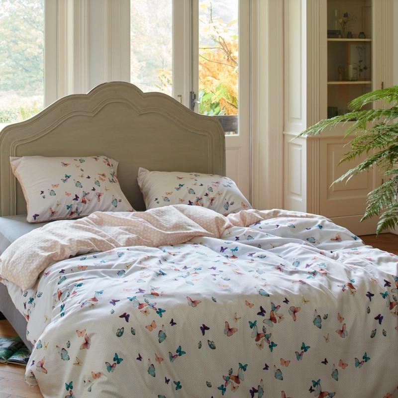 spring butterflies parure de lit satin de coton esprit linge mat. Black Bedroom Furniture Sets. Home Design Ideas