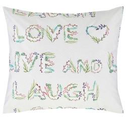 flores housse de couette satin de coton esprit linge mat. Black Bedroom Furniture Sets. Home Design Ideas