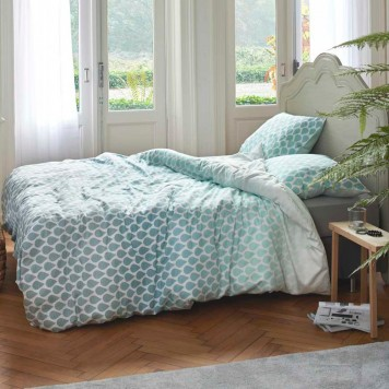 rainns green parure de lit satin de coton esprit linge mat. Black Bedroom Furniture Sets. Home Design Ideas