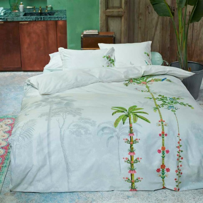 indian palms housse de couette percale de coton pip studio linge mat. Black Bedroom Furniture Sets. Home Design Ideas