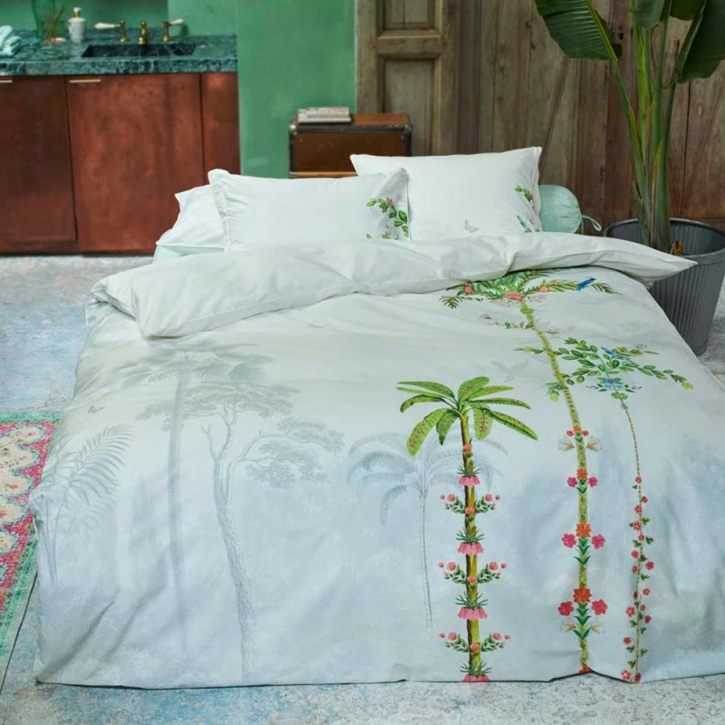 Indian palms housse de couette percale de coton pip - Housse de couette en percale de coton ...