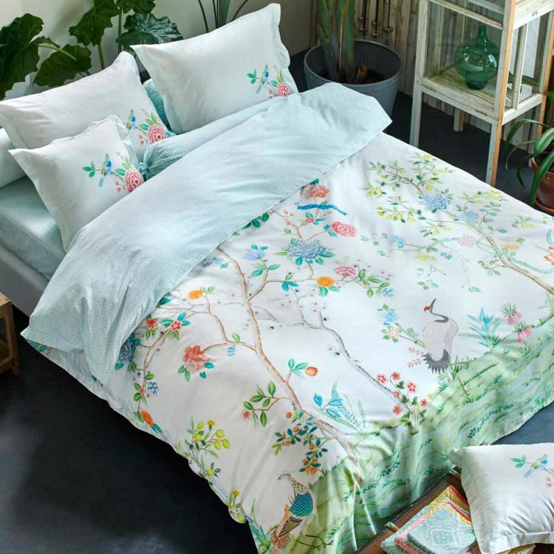 good morning white parure de lit percale de coton pip studio linge mat. Black Bedroom Furniture Sets. Home Design Ideas