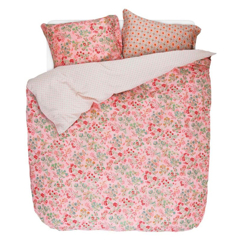 jaipur flower pink parure de lit percale de coton pip studio linge mat. Black Bedroom Furniture Sets. Home Design Ideas